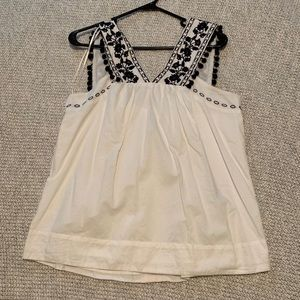 J. Crew sleeveless blouse.
